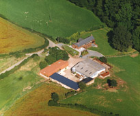 aerial photograph of the farm