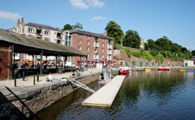 B and B ideally located for Exeter Quayside